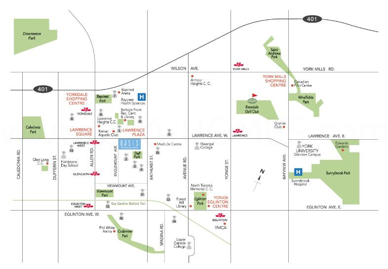 Oasis Townhomes On Lawrence Map